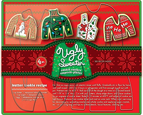 Ugly Sweater Cookie Cutter Set, Metallic