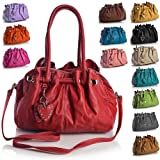 Big Handbag Shop Womens Multi Pocket Heart Charm Medium Shoulder Handbag