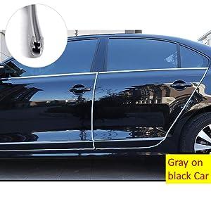 COSMOSS Car Door Edge Guards Automotive Door Trim Protector Strips U Shape Metal Push-on Edge Trim Door Ding Protector Fit for Most Vehicles , White 5-Meter 16-FT