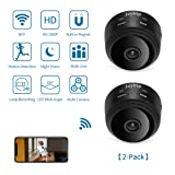 Spy Hidden Camera WiFi JOYTRIP HD 1080P Mini Spy Camera Wireless Hidden Home Security Portable Battery Nanny Cam with Motion Detection/Night Vision/Cell Phone APP for Home/Baby/Pet (2-Pack, A9) (Color: Black-2P)