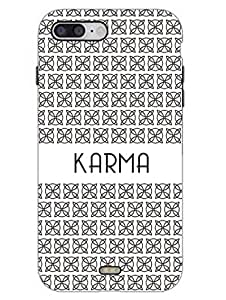 Karma - Typography - Hard Back Case Cover for iPhone 7 - Superior Matte Finish - HD Printed Cases and Covers