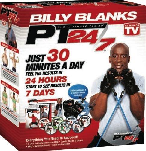 Tae Bo PT 24/7 Billy Blanks DVDs set including B2 Bands  &  Gloves