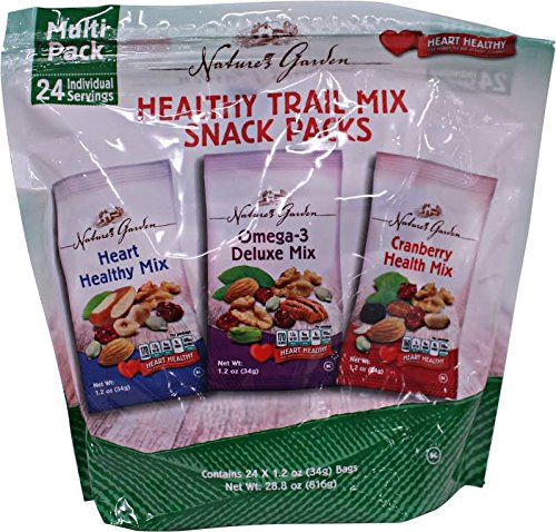 Natures Garden Variety Healthy Trail Mix Snack Pack -24ct (Snacks Single Serve compare prices)