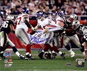 New York Giants Eli Manning Autographed The Escape 8x10 Photograph from Super Bowl... by Legends Gallery