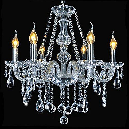Dst Marie Therese 6 Braccio cristallo e vetro Lampada Lampada a sospensione