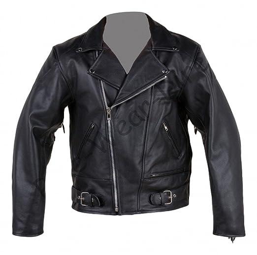 Cuir Hommes Brando glands veste de moto