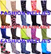 NEW WELLIES WOMENS, LADIES, GIRLS, FESTIVAL, RAIN, SNOW, WELLINGTON BOOTS, MANY STYLES Size UK 3 4 5 6 6.5 7 (SIZE 6 / EURO 39, BEIGE WITH FLOWERS)