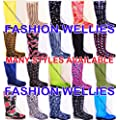 NEW WELLIES WOMENS, LADIES, GIRLS, FESTIVAL, RAIN, WELLINGTON BOOTS, CHRISTMAS, PRESENT, WINTER, SNOW, RAIN Size UK 3 4 5 6 6.5 7