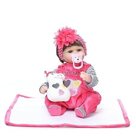 17 pouces Cute Alive Collectible Dress up Reborn bébé Fille Poupées Headband sofflower