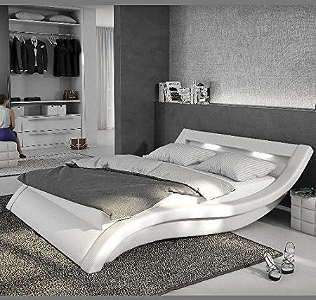 Letti e Mobili - Letto di disegno Atenas in colore bianco 150x190cm