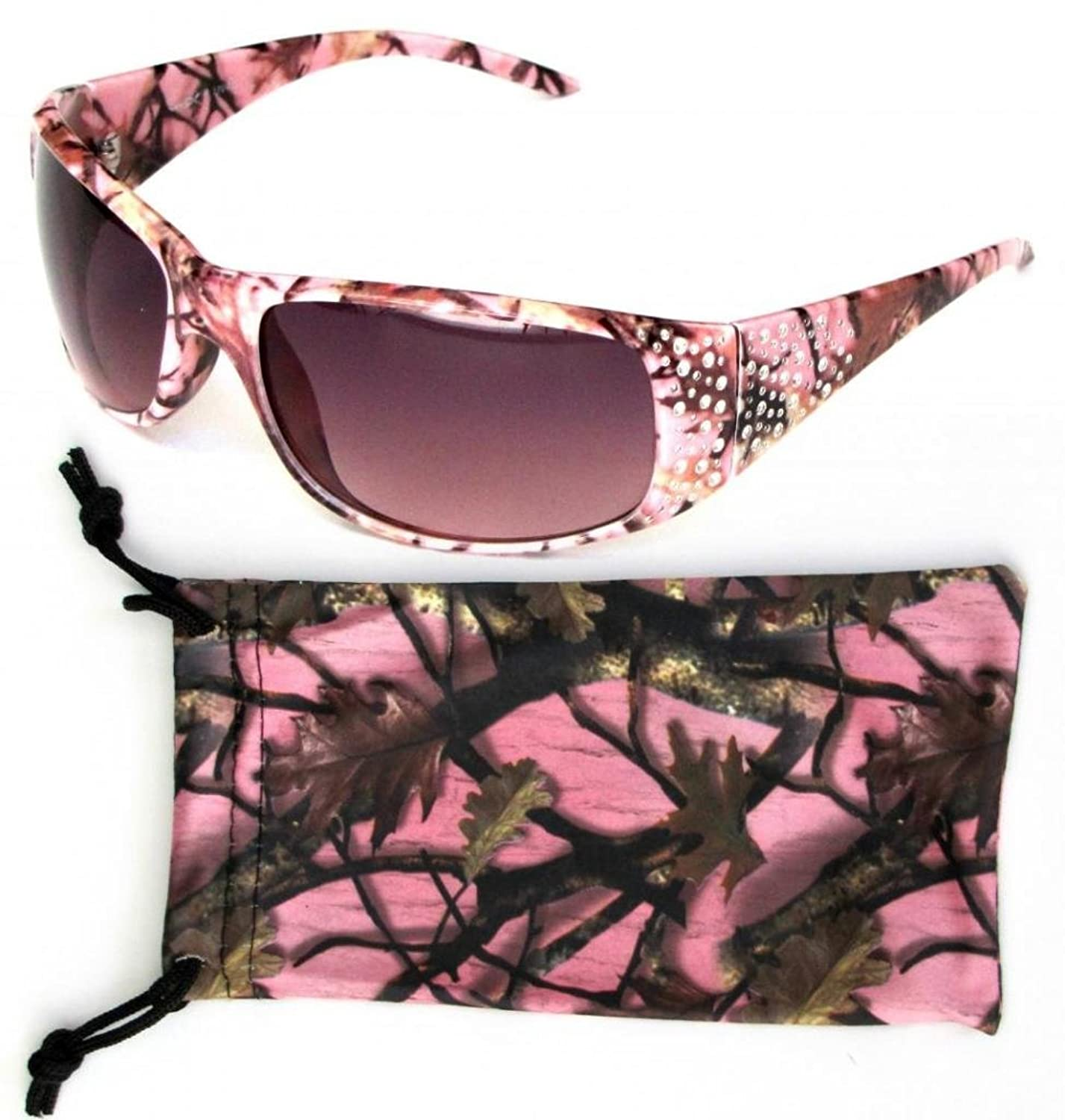 Vertx Women's Hot Pink Camouflage Sunglasses W/free Camo Microfiber Bag lovely toddler kids baby girl summer dress bunny ear short sleeve hooded outfit one pieces princess children dresses sundress