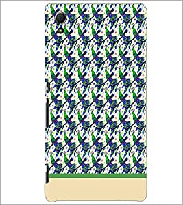 PrintDhaba Peacock pattern D-1913 Back Case Cover for SONY XPERIA Z4 (Multi-Coloured)