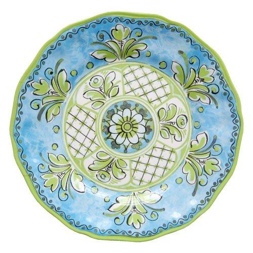 Le Cadeaux Benidorm Blue Melamine Dinnerware, Dinner Plate