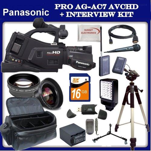 Panasonic AG-AC7 Shoulder-Mount AVCHD Camcorder w/ SSE