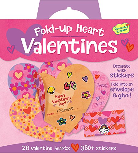 Buy Discount Peaceable Kingdom / Fold-Up Heart Super Valentine Card Pack