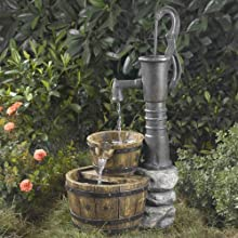 33quot Old Fashioned Western Style Water Pump Outdoor Patio Garden Water Fountain