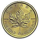 7.7758グラム 金 カナダ メイプルリーフ 10ドル ゴールド コイン2016年製造 24K 1/4オンス 純金 インゴット 金貨 真空パック入り