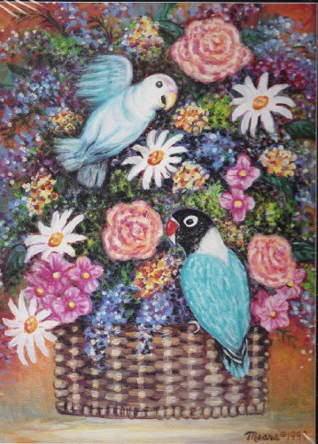 Feathers and Flowers 550 Piece Jigsaw Puzzle Mears