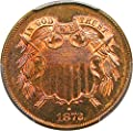 1872 P 2-Cent Pieces Two-Cent MS66 PCGS RB