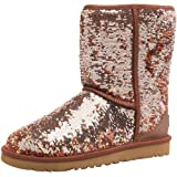 Ugg Womens Classic Short Sparkles Boots Multi Bronze