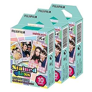 Fujifilm Instax Mini Stained Glass 30 Film for Fuji 7s 8 25 50s 90 300 Instant Camera, Share SP-1 Printer