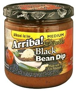 Arriba Spicy Black Bean Dip 16-ounce Jars Pack Of 3 by Arriba!