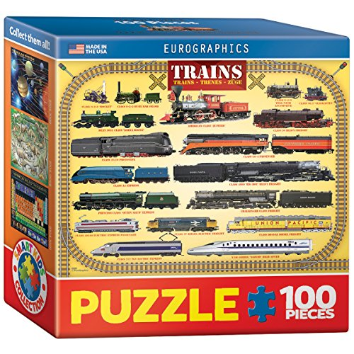 EuroGraphics Trains Mini Puzzle (100-Piece)