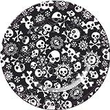 8 de Halloween platos de cart�n 23 cm, el cr�neo del pirata