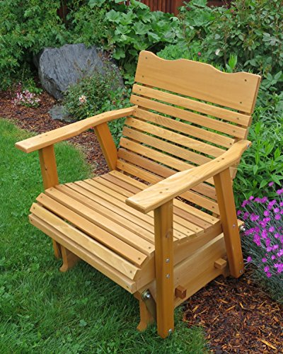2 39 cedar porch glider w stained finish amish crafted for Outdoor furniture varnish