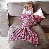 Cola de sirena de moda creativa manta aire acondicionado manta sofá manta punto manta solo oficina Casual NAP la estera