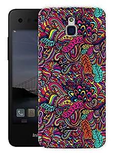 "Super Trippy Neon Color Printed Designer Mobile Back Cover For ""Google Infocus M350"" By Humor Gang (3D, Matte Finish, Premium Quality, Protective Snap On Slim Hard Phone Case, Multi Color)"