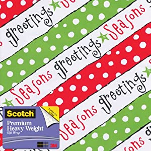 Scotch  Gift Wrap, Happy Verbiage Pattern, 25-Square Feet, 30-Inch x 10-Feet (AM-WPHV-12)