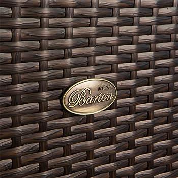 Barton Outdoor Storage Bench Rattan Style Deck Box w/ Cushion, 60-Gallon