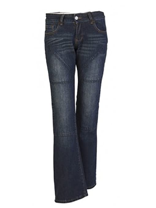 Hornee SA-W3 Femmes Coupe bottillon Hipster Jeans bleu foncé