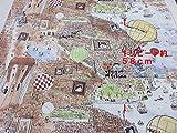 1パネル単位  マンハッタナーズ なつかしのマンハッタンA色 1パネル約58cm(リピート柄) オックス生地|かわいい |生地|布地|安い|服地|手づくり