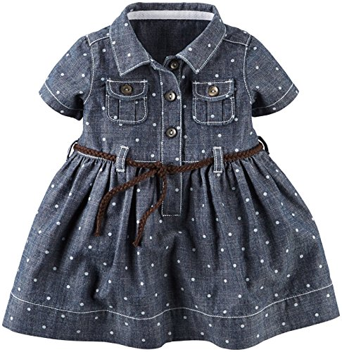Carter 39 s baby girls 39 2 piece dot dress set baby for Cuisine you chambray