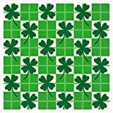 Checkered Clover Saint Patrick s Day Luncheon Napkins, 16ct