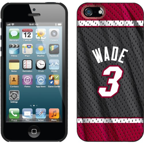 Special Sale Dwyane Wade - Road Jersey Back design on a Black iPhone 5s / 5 Thinshield Snap-On Case by Coveroo