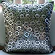 Shiny Disco Balls - Throw Pillow Covers - Silver Color Silk Pillow Cover with Textured Sequins