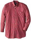 Cutter & Buck Mens Big-Tall Long Sleeve Caden Check Shirt