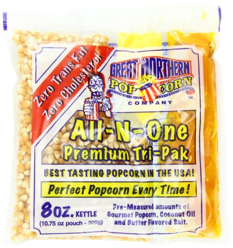 Great Northern Popcorn Premium 8 Ounce Popcorn Portion Pack of 24 (Kernel Popcorn Oil compare prices)