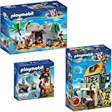 PLAYMOBIL® Super 4 3er Set 4796 4797 4798 Getarnte Piratenfestung