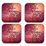 MeSleep Abstract Rakhi Wooden Coaster-Set Of 4 - B013LEH51I