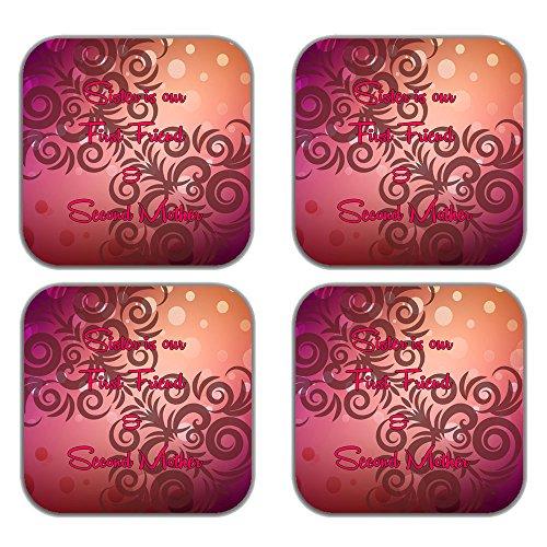 MeSleep Abstract Rakhi Wooden Coaster-Set Of 4 - B013LEH51I