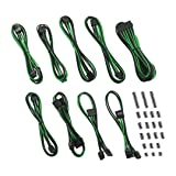 CableMod Classic ModFlex E-Series Cable Kit for EVGA G5 / G3 / G2 / P2 / T2 - Black/Green [CM-EV2-CKIT-KKG-R] (Color: Black/Green)