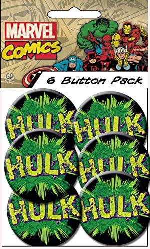 "C&D Visionary Classic Hulk - Logo 1.5"" Button (6-Piece)"