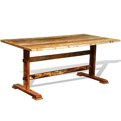 Table à manger en bois récupéré