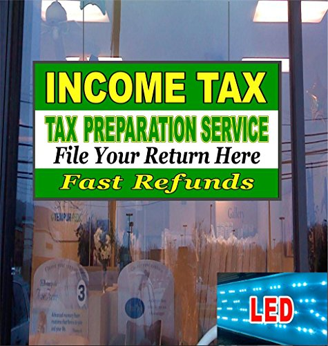 Income Tax Prep Service LED Light up Sign (Freightliner Cascadia Dash compare prices)