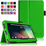 Fintie Dragon Touch 7'' Y88X / Y88 Folio Case - Premium Vegan Leather Cover with Stylus Holder for Dragon Touch 7'' Dual Core Y88X /Y88 Google Android Tablet(will not fit Dragon Touch A7) - Green