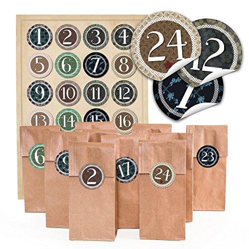 24-marron-papel-galletas-de-navidad-bolsas-con-insert-pergamino-7-x-4-x-205-cm-y-24-redondas-pegatin